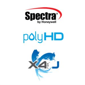 Spectra by Honeywell, polyHD and X4 logos